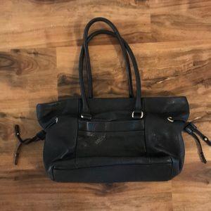EUC Kate Spade Black Pebbled Leather Shopper Tote
